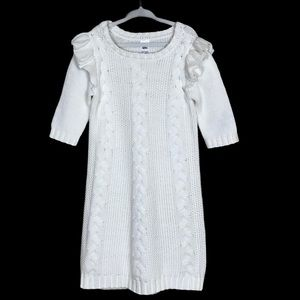 Carter's Girls Cable Knit Sweater Dress 6/6X